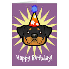 rottweiler lover birthday greeting cards zazzle