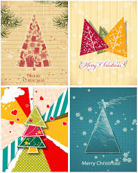 stylized christmas tree cards vector vector graphics blog