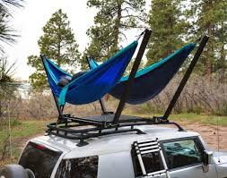 trailnest rooftop car hammock hammock attaches to top of suv