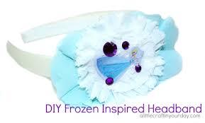 frozen headband frozen headband tutorial a craft in your day