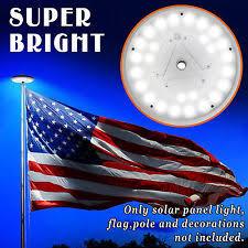 solar led flagpole light solar power 26 led flag pole light night super bright flagpole light