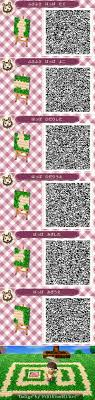 acnl shrubs a brick path with leaves remember i did not make this design