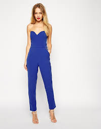 zipper jumpsuit asos collection jumpsuit in bandeau with zipper detail where to