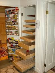narrow kitchen pantry shelving unit with door mounted storage ideas