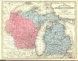 Road Map Of Michigan Michigan 1867 Metadata