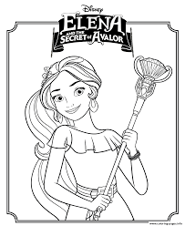 elena secret avalor disney princess coloring pages