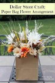flowers store dollar store craft paper bag flower arrangement