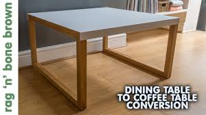 Coffee Table Converts To Dining Table Converting A Dining Table In To A Coffee Table Habitat Kilo