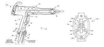 patent us8037844 spray gun having display and control members on