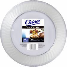 chinet plates chinet cut clear plastic 10 inch plates 20 ct