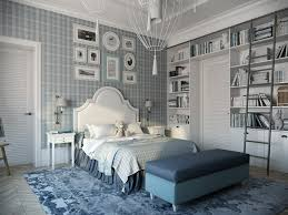 Pics Photos Light Blue Bedroom Interior Design 3d 3d by General Metal Sculpted Light Fixture Calming Modern Interiors