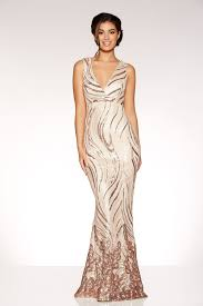 maxi dress gold sequin v neck fishtail maxi dress quiz clothing