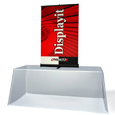 table top banners for trade shows 33 5 pronto retractable table top banner stand