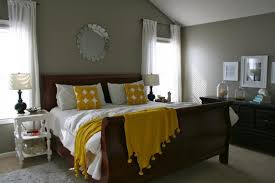 Bedroom With Yellow Walls And Blue Comforter Yellow And Gray Wedding Decorations Choice Image Wedding