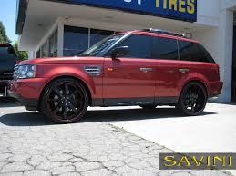 silver range rover black rims range rover sport savini wheels