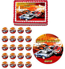 hot wheels cake toppers hot wheels edible birthday party cake topper cupcake image