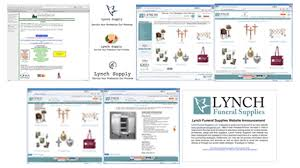 funeral home supplies b2b web marketing site make lynch funeral supplies