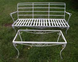 Antique Metal Patio Chairs Vintage Metal Outdoor Furniture Etsy