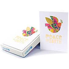 boxed cards hallmark unicef christmas boxed cards peace on earth