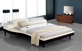 portofino white modern bed with adjustable leatherette headboard portofino white modern bed with adjustable leatherette headboard inside headboards modern
