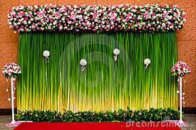 wedding backdrop green backdrop flowers wedding ceremony 23768120 jpg 400 267