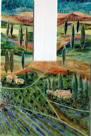 glass tuscan mural for kitchen designer glass mosaics designer