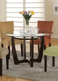 amazon com bloomfield round glass top dining table by coaster