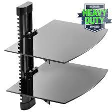 2 shelf dvd wall mount
