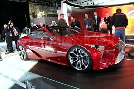 lexus lf lc red detroit this car stole the show stark insider