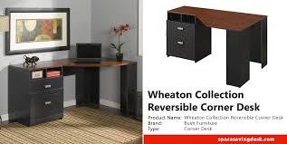Bush Furniture Wheaton Reversible Corner Desk Wheaton Collection Reversible Corner Desk Review Space Saving Desk