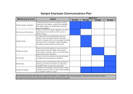 internal communications plan template best business template