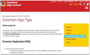 how to utilize your website for college applications