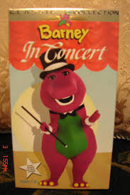 barney in concert vhs video sing along and the backyard gang
