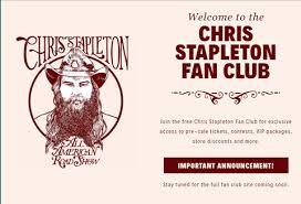 chris stapleton fan club chris stapelton fan club 1501078659 jpg