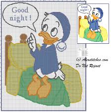 baby blanket baby donald duck cross stitch pattern free