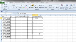 how to make a timesheet in excel simple excel timesheet youtube