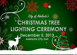 Christmas Tree Lighting Adelanto Christmas Tree Lighting Ceremony Victor Valley News