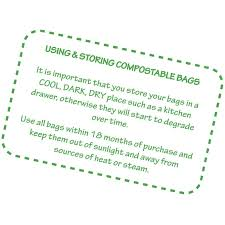 all green 6 litre biobag compostable kitchen caddy liners food