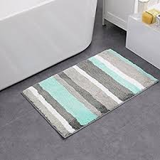 amazon com interdesign stripz microfiber bath rug 34 x 21 inch