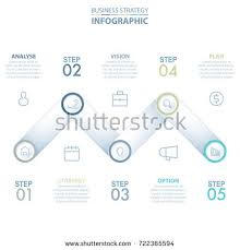 5 steps modern clean business infographics stock vector 722366014