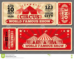 ticket template free download circus magic show entrance vector tickets templates download