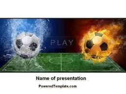 free football league powerpoint template by poweredtemplate com