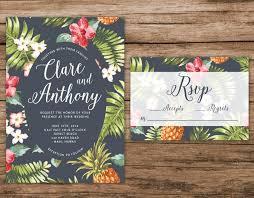 tropical themed wedding invitations hawaiian wedding invitation tropical wedding invitation palm