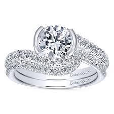 gabriel and co engagement rings nikko 14k white gold bypass engagement ring er10472w44jj