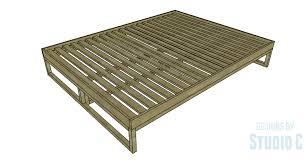 How To Make A Platform Bed Queen by A Simple To Build Queen Platform Bed U2013 Designs By Studio C