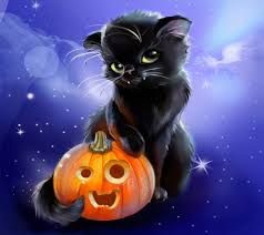 halloween art background halloween cats