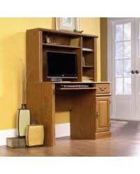 sauder orchard computer desk with hutch carolina oak slash prices on sauder orchard computer desk with hutch