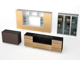 contemporary tv wall unit wooden glass aluminum altagamma