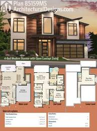 Ready To Build House Plans Plan 14633rk Master On Main Modern House Plan Modern House