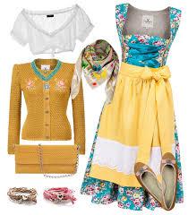 dirndl selbst designen styling idee der woche gelbes dirndl trachtenmagazin